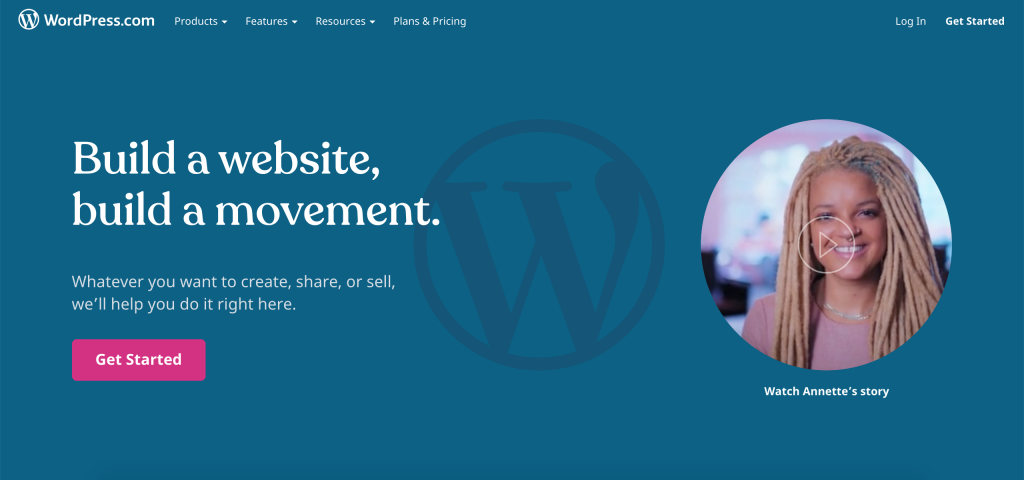 wordpress.com homepage